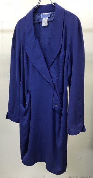 1980s THIERRY MUGLER CURVED HEM DRESS