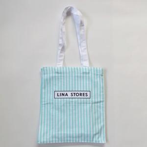 LINA STORES/リナストア ストライプバッグ(小)/エコバッグ・トートバッグ