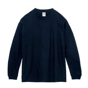 クルーネック Tシャツ (長袖) ネイビー