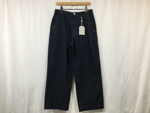 "UNIVERSAL PRODUCTS ""NO TUCK WIDE DENIM PANTS INDIGO"""