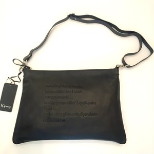 Io Pelle Shoulder & Clutch 2 Way Bag Black