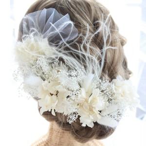 ○受注製作○ヘッドドレス~ white tulle~