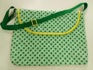 図書袋 緑 ドット
