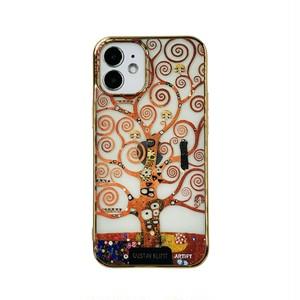 【液体無し】ARTiFY iPhone 12 mini メッキTPU スマホケース クリムト 生命の樹 AJ00634