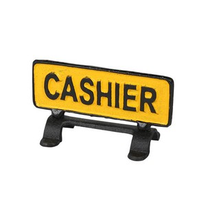 """【R655-744】Reversible sign stand """"CASHIER"""" #サイン #アイアン #アンティーク #ヴィンテージ #アメリカン"""