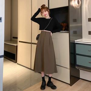 タック入りAラインスカート1011-200822018