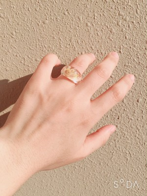 flower clear ring