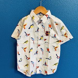 ビビット小鳥キッズシャツ