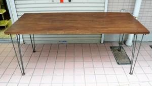 鉄脚のテーブル【集成材】(0921106YE)
