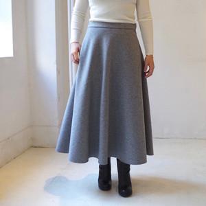 """<受注生産>ウールのシンプルなフレアーロングスカート """"gray"""""""