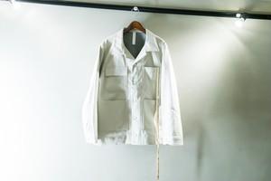 SHINYA KOZUKA デニムカバーオール ホワイト