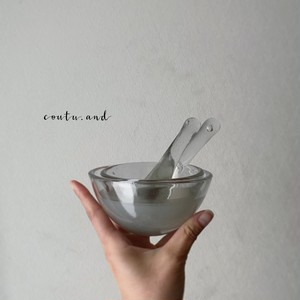 小さなガラス乳鉢セット