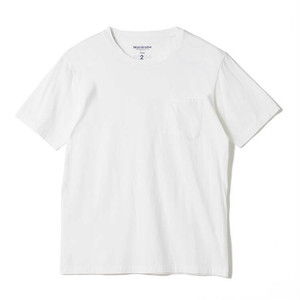 White Mountaineering / CREW NECK POCKET T-SHIRT[NAVY / WHITE]