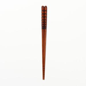 拭き漆箸-亀甲 k0397