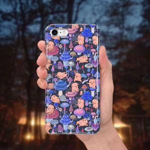 スマホケース(iPhone & Android)キノコ / 色:ナイトブルー×チャコール