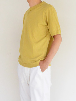 Jackman ジャックマンJM5632 Rib T-Shirt #Wall Yellow