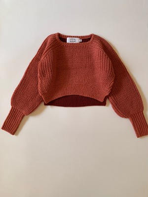 knit balloon sweater コーラルピンク S・M・L