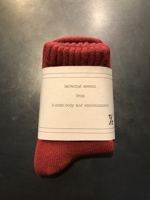 TrAnsference object dyed mid socks - dark red