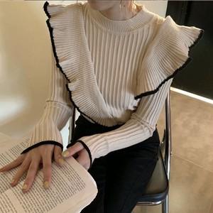 slanting frill knit