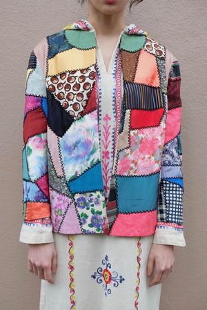 vintage/borderline patchwork jacket.