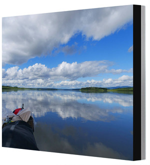 全紙写真パネル アラスカ・ユーコン川 Leo R. Yamada撮影 木製パネル張り 20160810142935