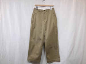 "UNIVERSAL PRODUCTS."" NO TUCK WIDE CHINO TROUSERS CAMEL"""