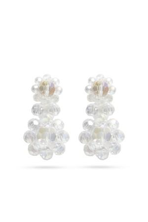 Glass Flower Drop Earrings