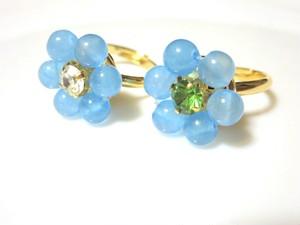 flower ring (カルセドニー)