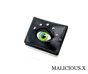 eye wallet / yellow green(折りたたみ)