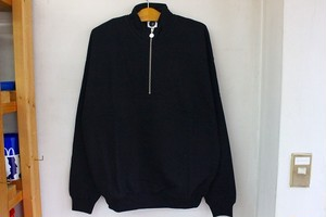 POLAR SKATE CO. ZIP NECK SWEATSHIRT [BLACK]