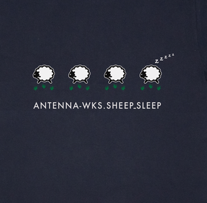 SHEEP_SLEEP Tシャツ/ネイビー【CWE-096NV】