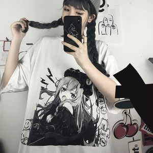 【トップス】アニメ半袖ファッション韓国系ストリート系プリントカジュアルTシャツ46120457