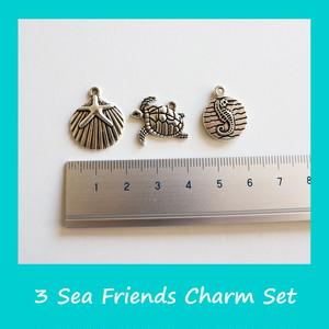 海シリーズ チャーム3点セット アクセサリーパーツ