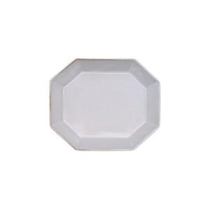 笠間焼 向山窯 ベリル プレート 皿 S 約12.5×10.5cm グレー 255800