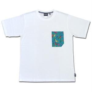 gym master ハッピーペイントポケットTee ホワイト×スパイシー DEOCELL ジムマスター Tシャツ デオセル カットソー 半袖 G433615