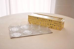 Nuutajarvi Flora bowl clear 6+box(Oiva Toikka)