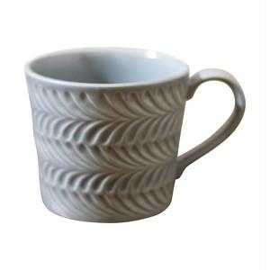 波佐見焼 翔芳窯 ローズマリー マグカップ 350ml マットグレー 33400