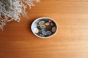 砥部焼/「青い鳥」楕円小皿
