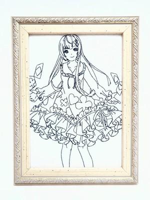 キャラ縫い額装刺繍 王女シャッフル「幼少期の王女」