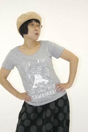 HALKAデザイン さわやかTシャツ・レディース(GY)