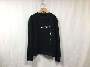 "semoh""graphic jacquard knit black"