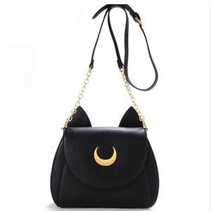 Chain Shoulder Bag Luna Cat PU Leather Handbag Messenger Crossbody Small Bag サマー 夏物 ショルダーバッグ レザー クロスボディ チェーン ハンドバッグ (FO99-6834457)