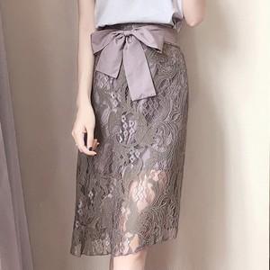 【ボトムス】レディース スカート 合わせやすい フェミニン 履き心地よい 透かし彫り 女子力アップ