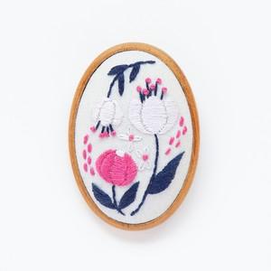 『オデット姫』ブローチ刺繍キット
