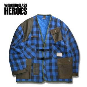 WCH Remake Quilting Flannel Gardening Jacket -Navy / Black