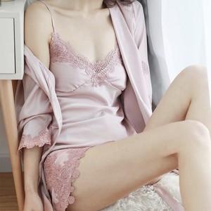 Roomwear♡サテンルームウェアセット 4color