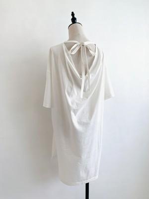 SALT+  バックドレープロングTシャツ