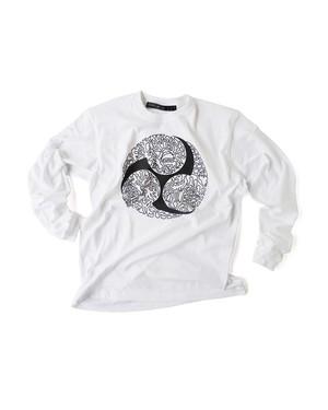 Tシャツ0号 長袖 「巴龍」 白