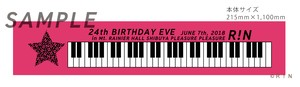 R!N  MUFFLER TOWEL 24th BIRTHDAY EVE