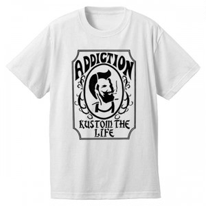 "Addiction KUSTOM THE LIFE SHORT SLEEVE TEE ""Zig Zag"" WHITE アディクション 半袖 Tシャツ"